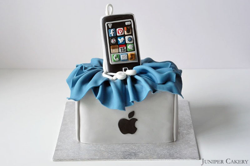 Edible Cake Images Iphone : iPhone Birthday Cake!