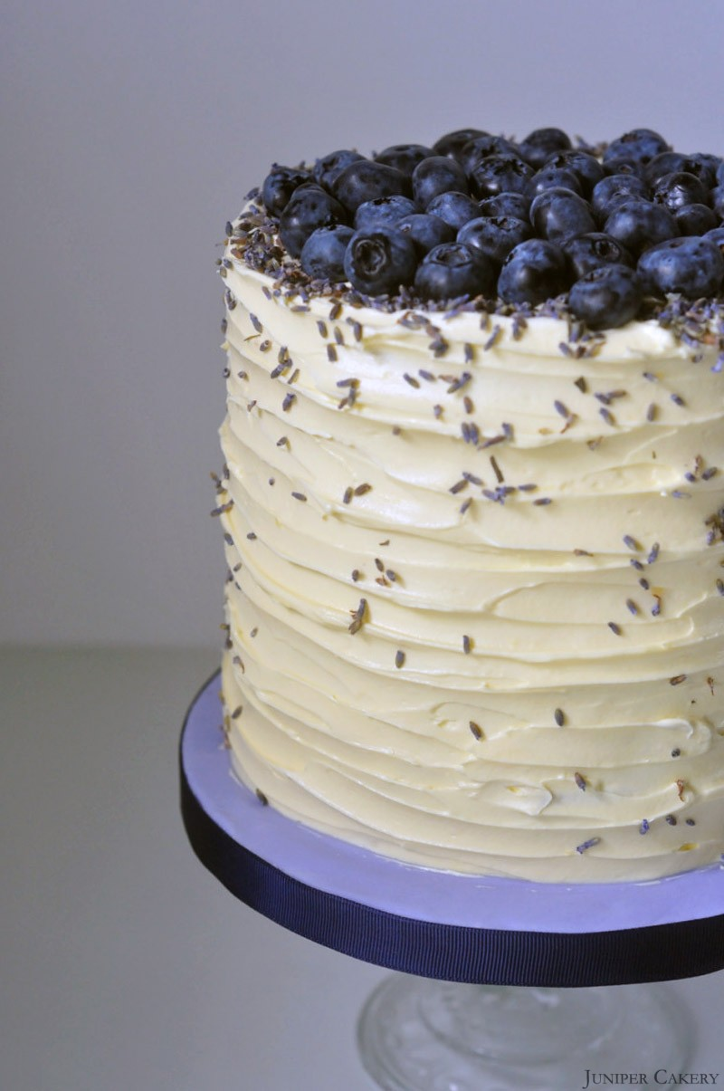 Recipe Blueberry Lavender and White Chocolate Cake