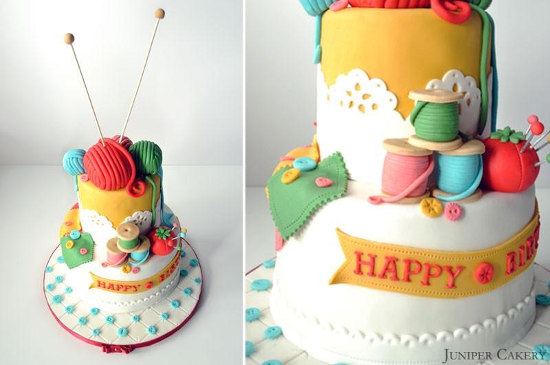 Birthday Cake Art And Craft : Craft Themed Birthday Cake!