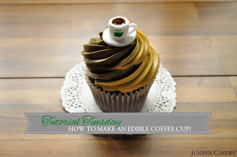 Tutorial Tuesday: How to Make an Edible Fondant Coffee Cup