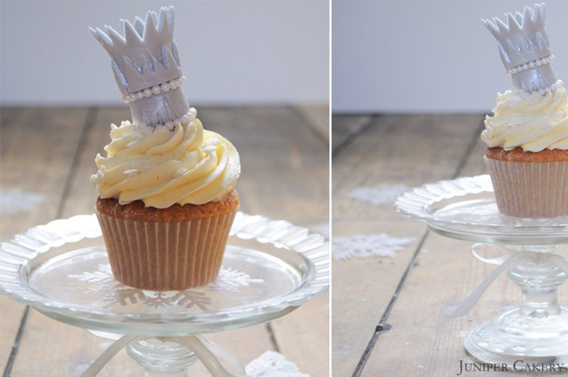 Vanilla Snow Queen Cupcake by Juniper Cakery