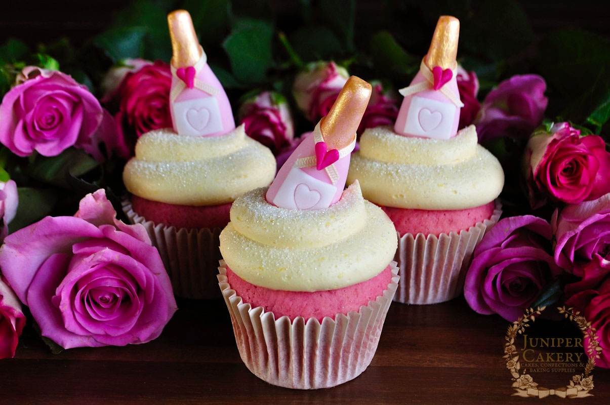 Valentine Tutorial: Pink Champagne Cupcakes! - Juniper Cakery ...