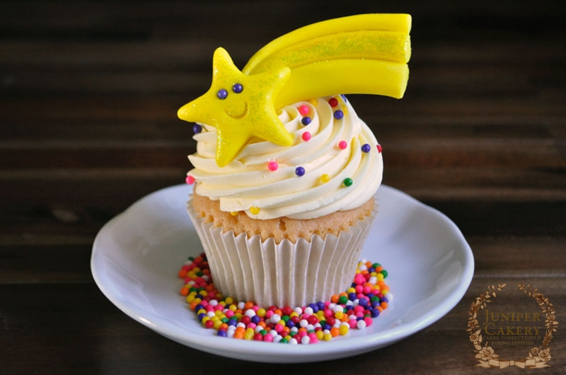 Shooting Star Cupcake tutorial by Juniper Cakery