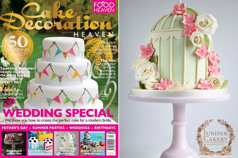 Cake Decorating Heaven Menai : Our Floral Birdcage Cake in Cake Decoration Heaven ...