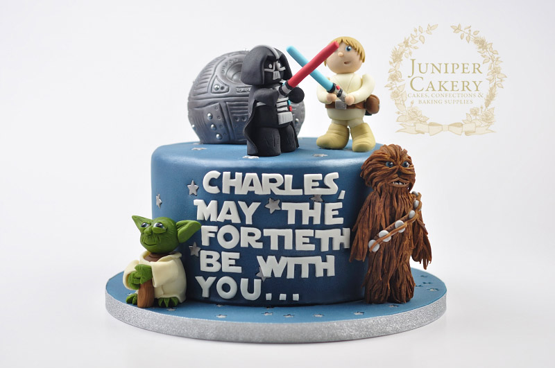 40th birthday star wars cake   juniper cakery bespoke