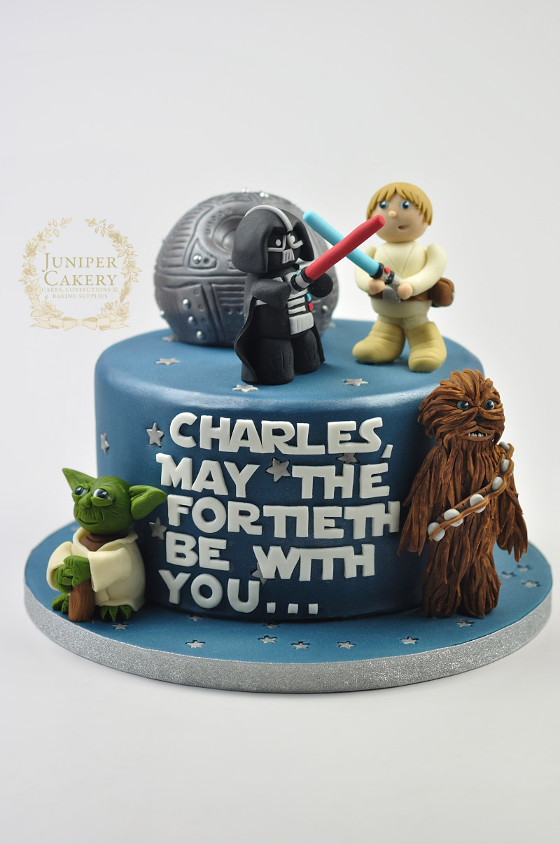 40th Birthday Star Wars Cake Juniper Cakery Bespoke Cakes In Yorkshire The Humber