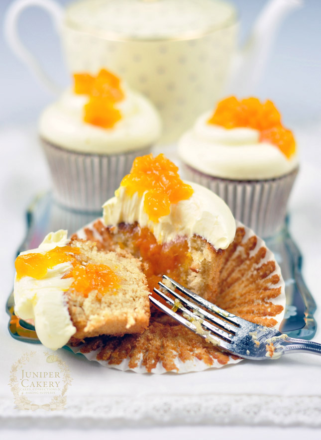 Amazing Honey, Peach and White Chocolate Cupcakes by Juniper Cakery