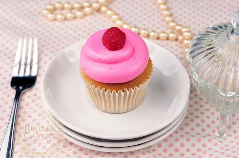 Gorgeous pink raspberry cupcake by Juniper Cakery