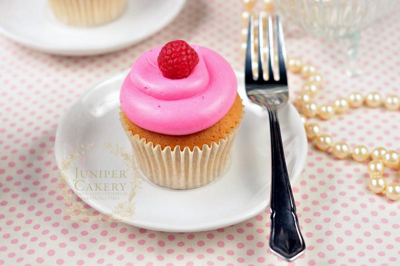 Raspberry jam filled cupcake by Juniper Cakery
