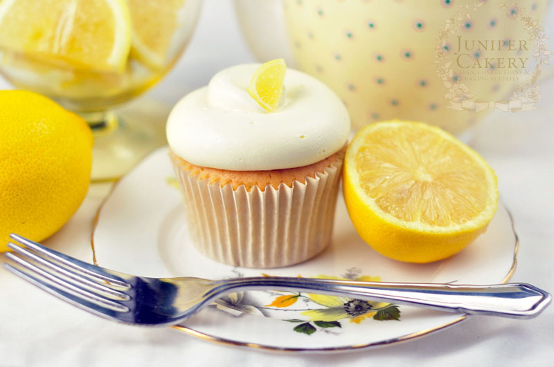 Lovely recipe for lemon cupcakes by Juniper Cakery