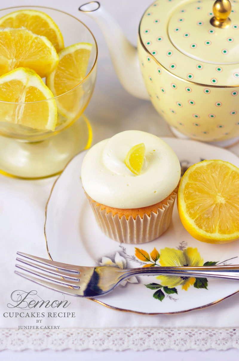 Lemon cupcake recipe by Juniper Cakery