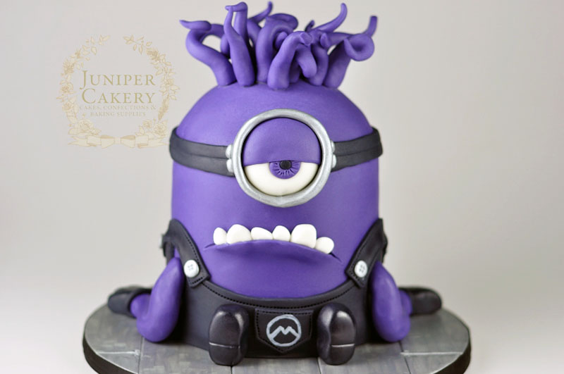 Evil Minion birthday cake by Juniper Cakery