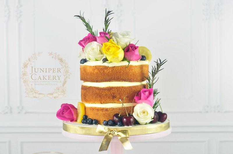 Rosemary and lemon naked cake by Juniper Cakery