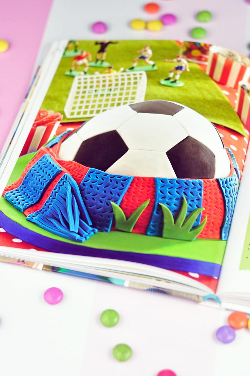 Playful Soccer Ball Cake by Juniper Cakery