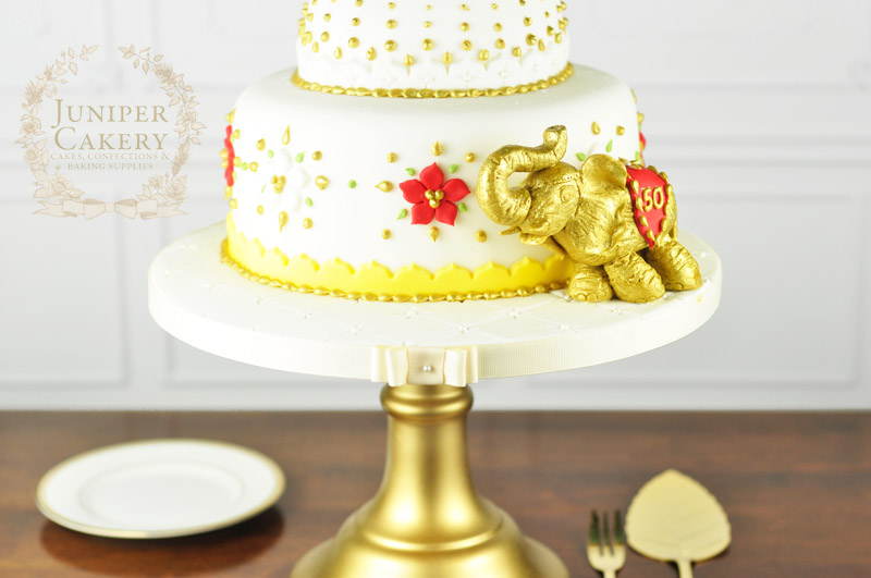 Detail on Taj Mahal inspired cake by Juniper Cakery
