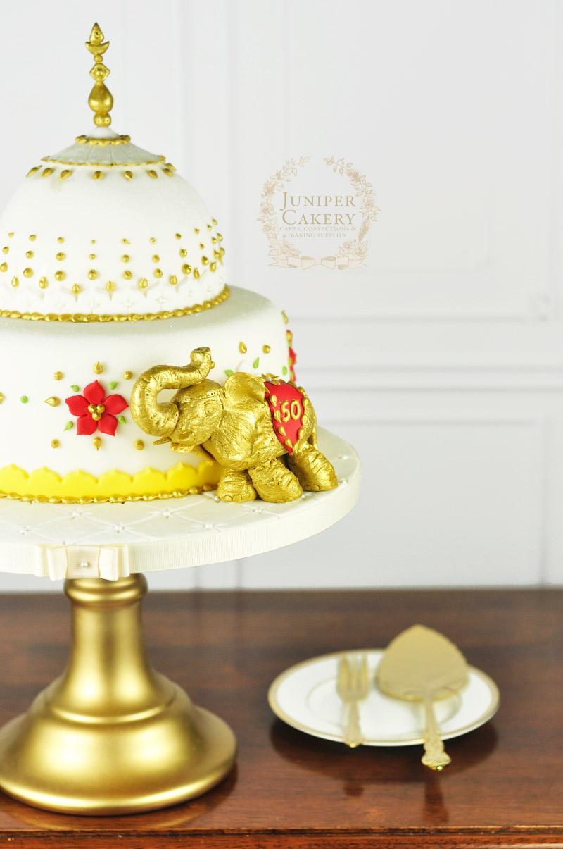 Beautiful Indian inspirec anniversary cake by Juniper Cakery