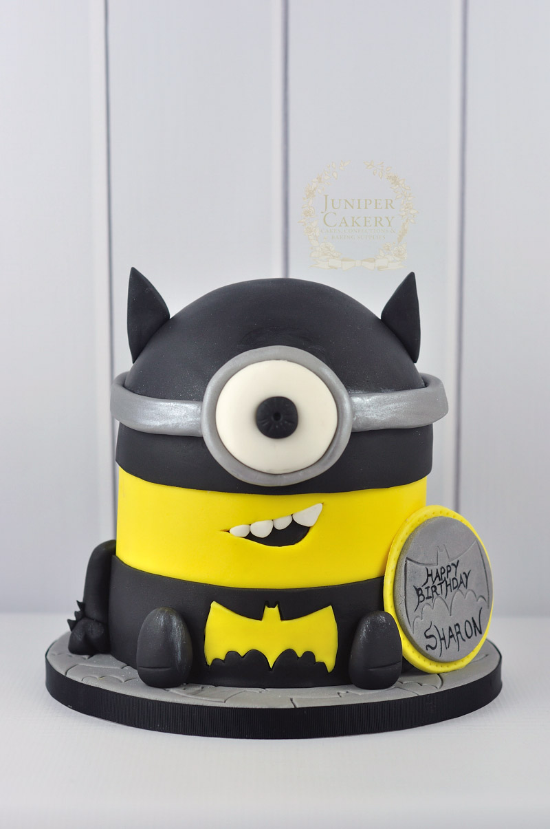 Batman Themed Minion Cake