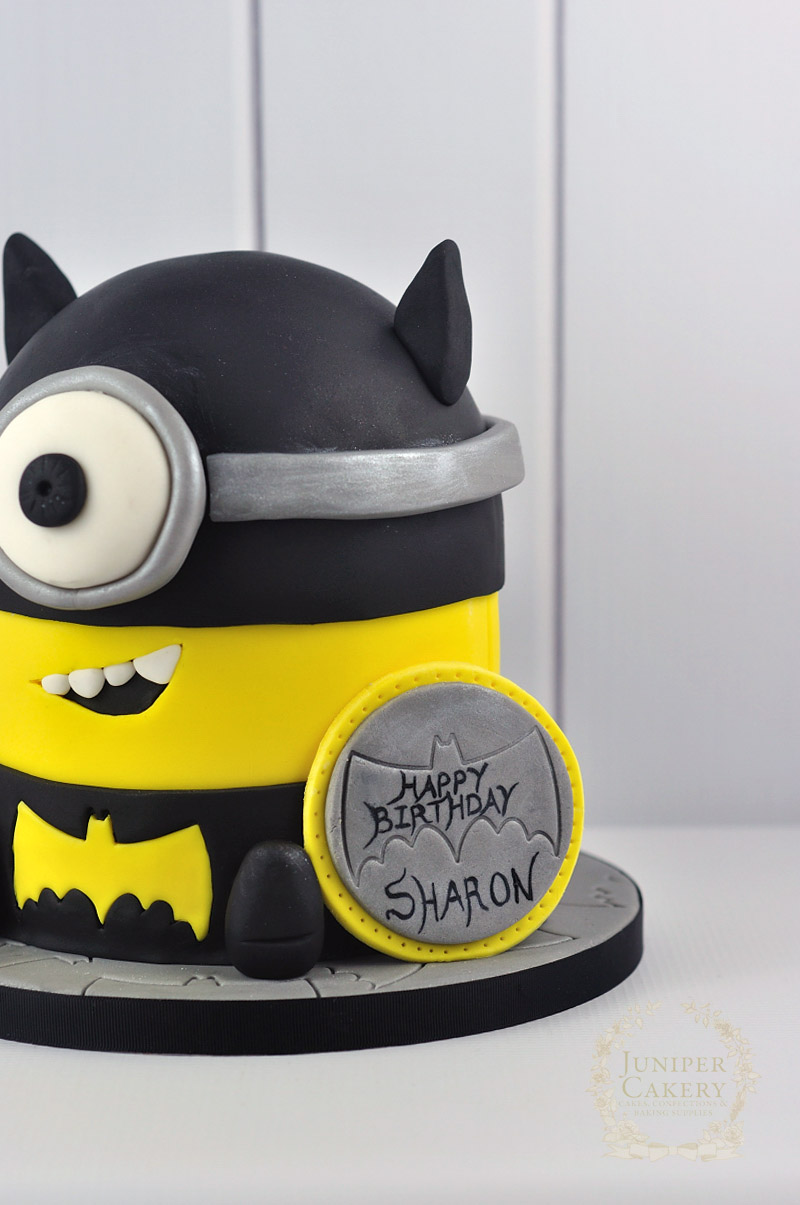 How To Make A Minion Batman Cake