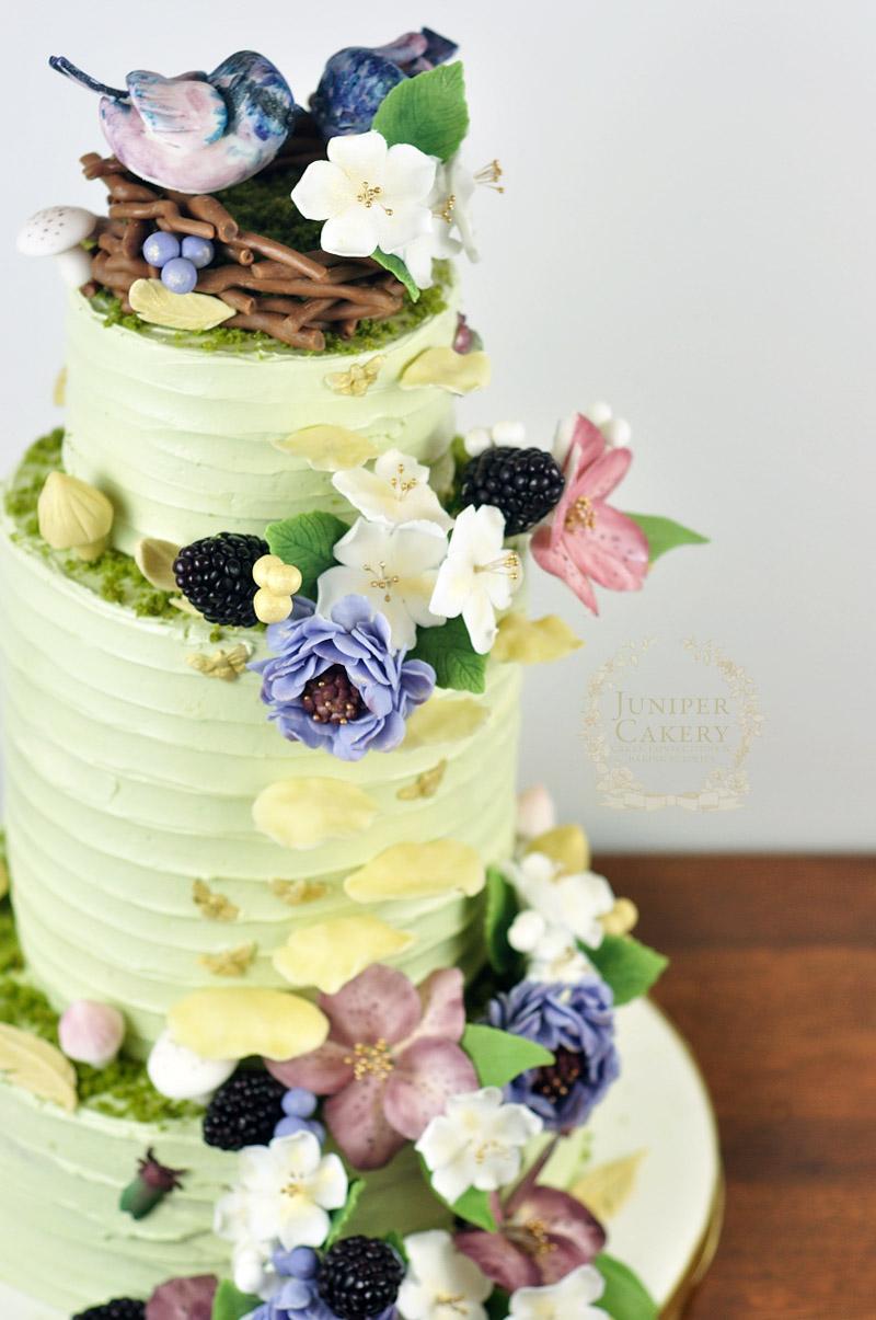Woodland Inspired Wedding Cake! - Juniper Cakery | Bespoke Cakes in ...