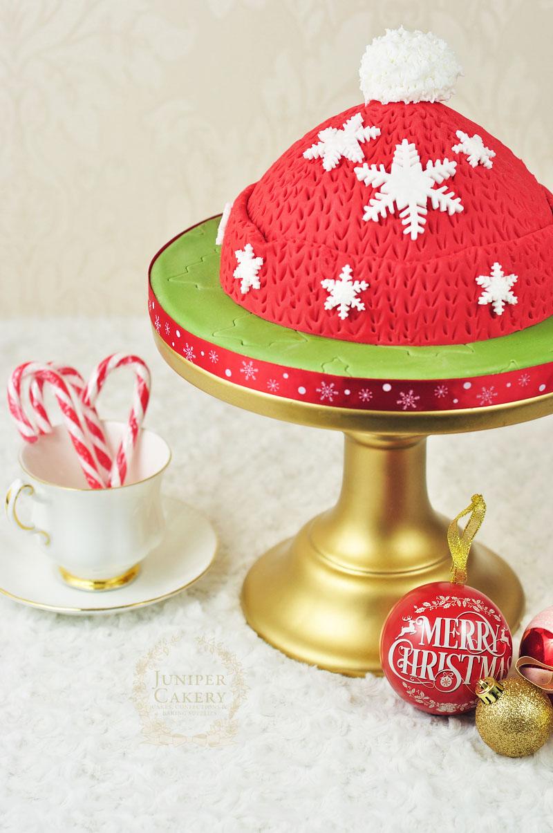 Festive Wooly Winter Hat Cake Tutorial Juniper Cakery
