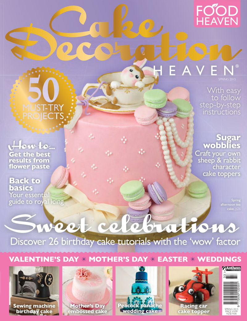 Our Tea and Macarons Rabbit Cake on The Cover of Cake ...