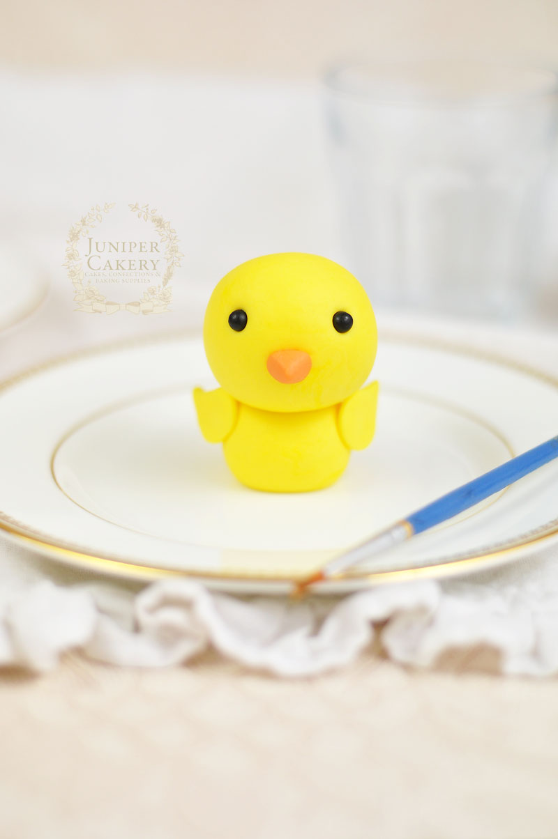 Easter fondant or gum paste chick birt tutorial by Juniper Cakery