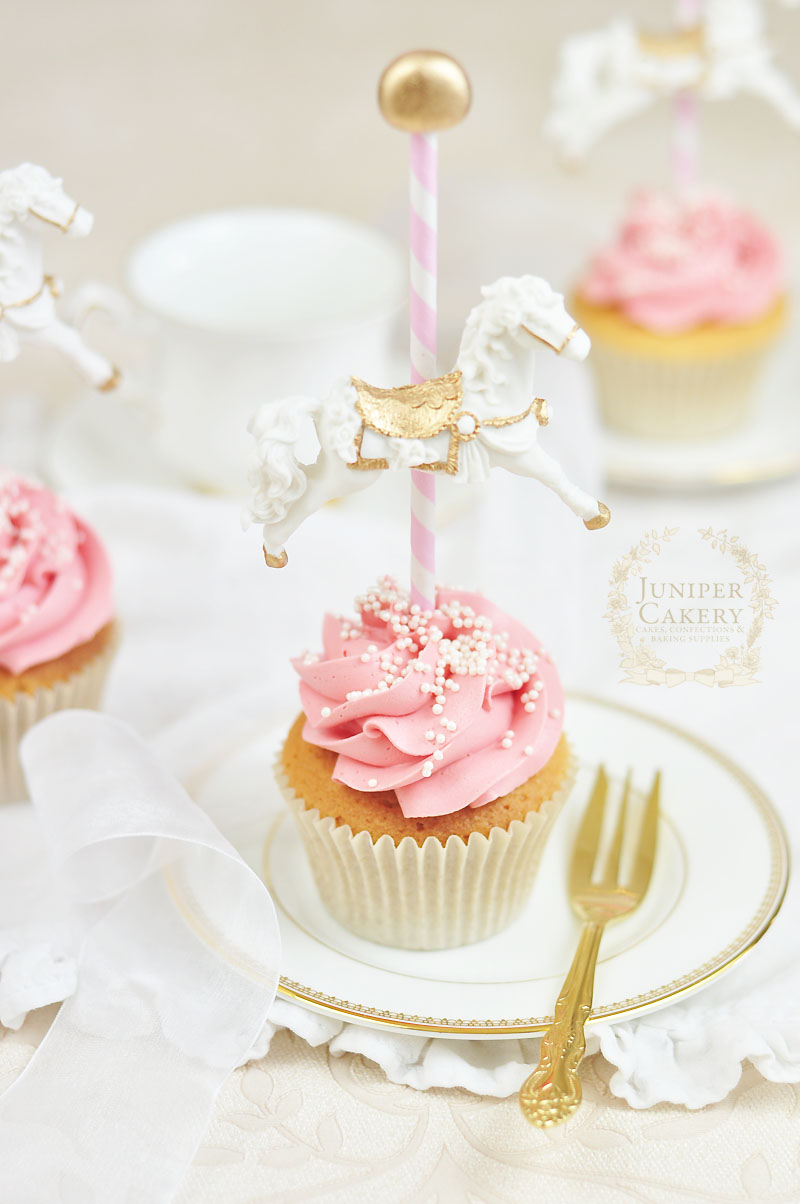 Baby Shower Carousel Cupcakes