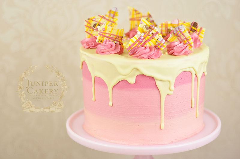 Strawberry milkshake birthday cake by Juniper Cakery