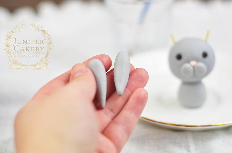 Fondant or gum paste rabbit tutorial from Juniper Cakery