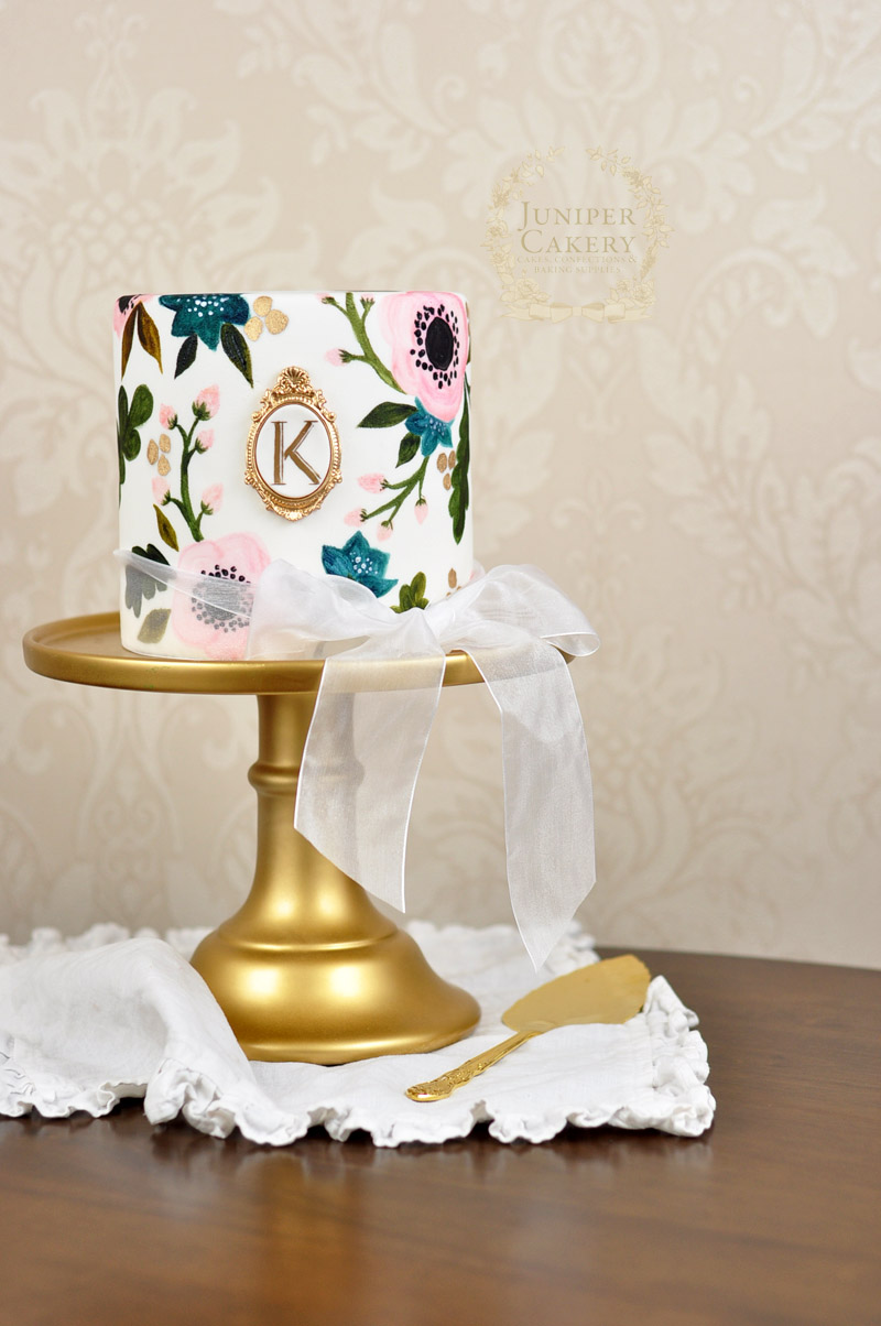 hand painted wedding cakes uk painted rifle paper co inspired wedding cake 15065